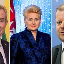 Lietuvos vadovai linki su viltimi sutikti išskirtinių valstybei metų šventes