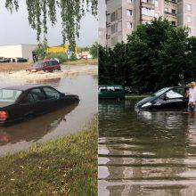 Smarki liūtis Kaune sukėlė chaosą: kai kurios gatvės buvo sunkiai pravažiuojamos