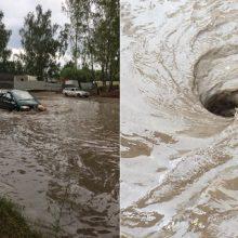 Lietus skalauja Kauną – tvinsta gatvės