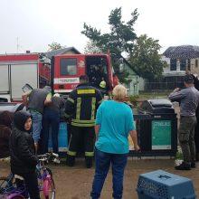Gelbėjimo operacija Vilijampolėje: vaduojamas į konteinerį išmestas šunelis