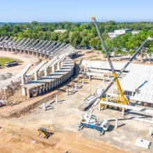 Patenkino smalsumą: kas vyksta rekonstruojamame Kauno stadione?