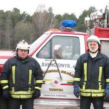 Ugniagesiai Pabradėje išgelbėjo žmogui gyvybę
