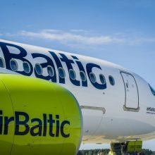 """""""Air Baltic"""" šią savaitę atšaukė skrydžius iš Rygos į Vilnių ir Palangą"""