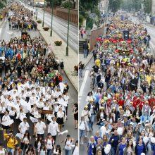 Tūkstančiai choristų nuspalvino uostamiesčio gatves
