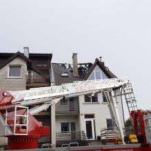 Po žaibo trenksmo Šilainiuose užsiliepsnojo namas <span style=color:red;>(nuotraukų galerija)</span>