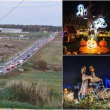 Į Helovino parką traukiantys žmonės užkimšo kelią: kaip grįžti namo?