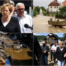 A. Merkel apie potvynio padarytą žalą: tai siaubinga