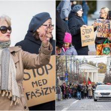 Mitingo Vilniuje organizatorė A. Astrauskaitė: negalima žmonių prievartauti
