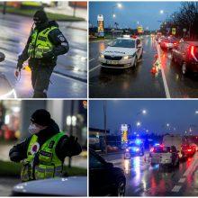 Ilgąjį savaitgalį pro blokpostus Kaune veržėsi tūkstančiai vairuotojų: tarp jų – girti ir beteisiai