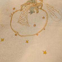 """""""Mažojo princo"""" autoriaus iliustruotas laiškas parduotas už ketvirtį milijono eurų"""