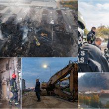 Pagaliau: pranešama apie gaisro Alytuje pabaigą – prasideda likvidavimas