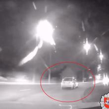 Kaune siautėjusį girtą vairuotoją sustabdė tik šūviai (vaizdo įrašas)
