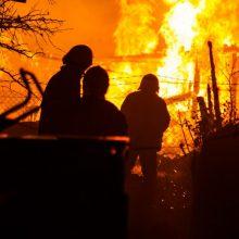 Tragiškas gaisras Neveronyse: liepsnose žuvo vyras, moteris – sunkios būklės