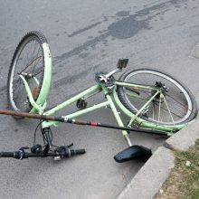 Panevėžyje partrenktas per perėją važiavęs dviratininkas – jam lūžo stuburas