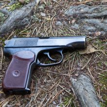 Kaunietis miške pametė teisėtai laikomą pistoletą su šoviniais
