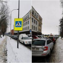 Dėl sūrio ir dešros turgaus lankytojai pažeidinėja Kelių eismo taisykles?