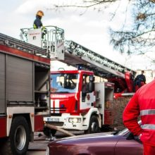 Kėdainiuose dėl gaisro iš daugiabučio evakuota 20 žmonių