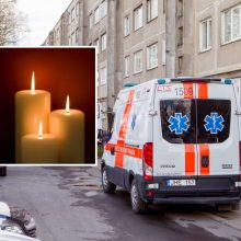 Rytinė tragedija Šančiuose: per langą iškritęs vyras ligoninėje mirė