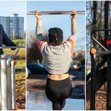 Kauniečiai nevirkauja dėl suvaržymų – treniruoklius mina parkuose