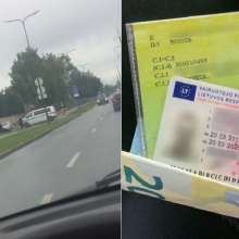 Niūri diena jaunam vairuotojui – sulaikytas pareigūnų mokės nemenką baudą
