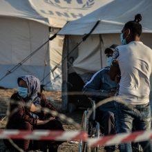 Graikijos migrantų stovykloje – pirmas mirties nuo COVID-19 atvejis