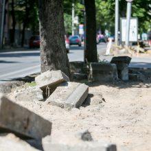 Apsišarvuokite kantrybe: Kęstučio gatvėje užvirė intensyvūs darbai