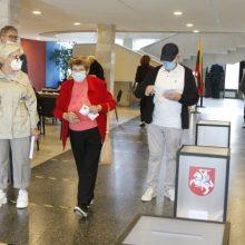 Dėl įtartinų įrašų Panerių apygardos balsavimo biuleteniuose kreipėsi į teisėsaugą