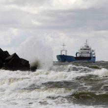 Klaipėdos uoste dėl vėjo apribota laivyba grįžo į įprastą ritmą