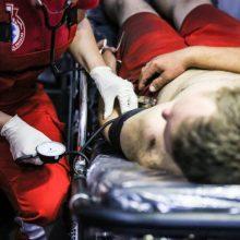 Kruvinas konfliktas: girta vilnietė vyrą sužalojo peiliu