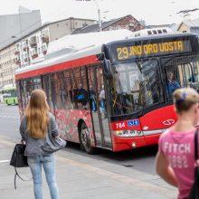 """Viešojo transporto įmonės """"Kauno autobusai"""" kreipimasis į keleivius ir vairuotojus"""