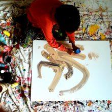 Vietoj planšetės šešiamečio iš Šančių rankoje – teptukas