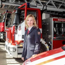 Įdirbis: Kauno priešgaisrinės gelbėjimo valdybos atstovės J.Lapėnaitės teigimu, gesinti išskirtinei kategorijai priskiriamus gaisrus bažnyčiose jos kolegos yra pasirengę.