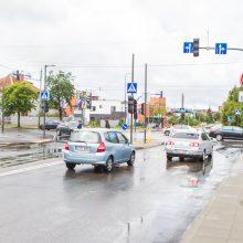 """Keiksnoja sankryžą prie """"Girstučio"""": vietoj vienos gatvės dabar reikia kirsti tris"""