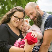 Šešių kilogramų gimusį mažylį tėvai jau parsivežė namo: kol kas tik geros emocijos