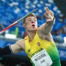 Komandinį lengvosios atletikos čempionatą lietuviai baigė E. Matusevičiaus pergale