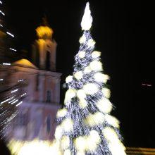 Kauno Kalėdų eglutės įžiebimo šventės akimirkos <span style=color:red;>(vaizdo įrašas)</span>