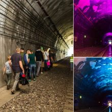 Kauno geležinkelio tunelį aplankė rekordinis skaičius smalsuolių