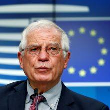 J. Borrellis: ES savo karinius pajėgumus vystys bendradarbiaudama su NATO