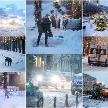 Kauną surakino sniego gniaužtai: eismo sąlygos nepavydėtinos visame mieste