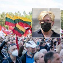 """""""Šeimos gynimo maršo"""" organizatoriams I. Šimonytė parašė laišką"""