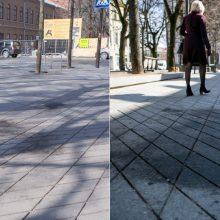 Baigiasi savaitė po mugės – grindinys tebėra dėmėtas: Laisvės alėja nebeatsiplauna?