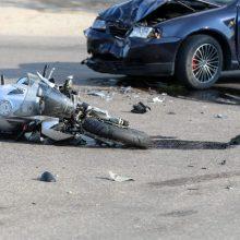 Masinė avarija Ignalinos rajone: susidūrė trys motociklai ir lengvasis automobilis