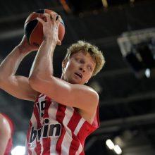 """Po skambios """"Olympiakos"""" pergalės Maskvoje – skaudus """"Maccabi"""" smūgis"""