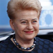 D. Grybauskaitė dalyvaus Europos politikos forume Briuselyje