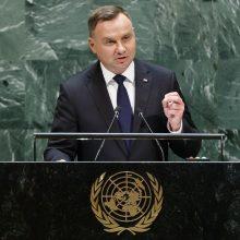 Lenkijos prezidentas: nekartokime praeities klaidų, dėl kurių kilo pasaulinis karas