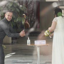 Pandemija – ne kliūtis vestuvėms, bet nuotaikos nešventiškos