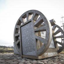Atidengtas paminklas Giedraičių mūšiui atminti