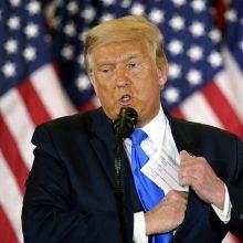 D. Trumpas dalyvaus 2024 metų JAV prezidento rinkimuose?
