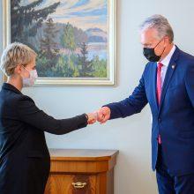 Prezidentas su generaline prokurore aptarė nuveiktus darbus ir ateities iššūkius