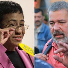 2021 metų Nobelio taikos premija paskirta dviem žodžio ir žiniasklaidos laisvės gynėjams
